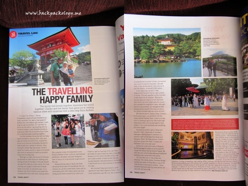 Our happy family in AirAsia's Travel3Sixty November 2012 edition