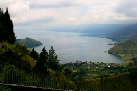 Lake toba viewed from north side, on the viewpoint near Sipiso-piso waterfall