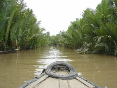 The Mekong River Delta is a labyrinth of islands, channels and canals