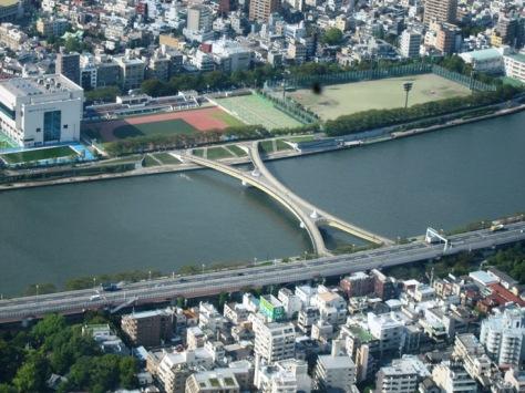 Pemandangan kota dari Tokyo Skytree
