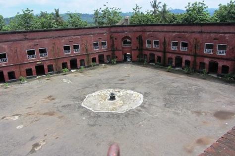 Kondisi dalam Benteng Van Der Wijk Gombong, difoto dari atas benteng