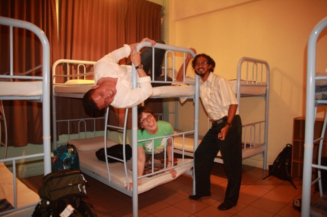 Penampakan salah satu penginapan berbentuk dorm di Kota Kinabalu
