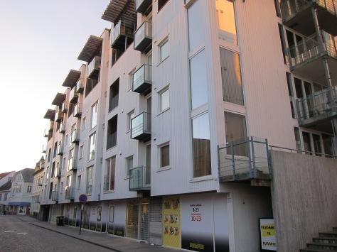 Bangunan apartemen kami di Stavanger, Norwegia