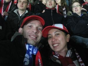 Sekar dan suami di Arke Stadium, Belanda