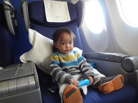 Travelling in style: Business Class! KLM 777-300 Amsterdam-Abu Dhabi