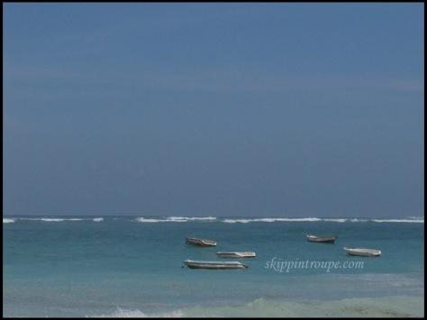 Perahu-perahu di Pantai Pandawa