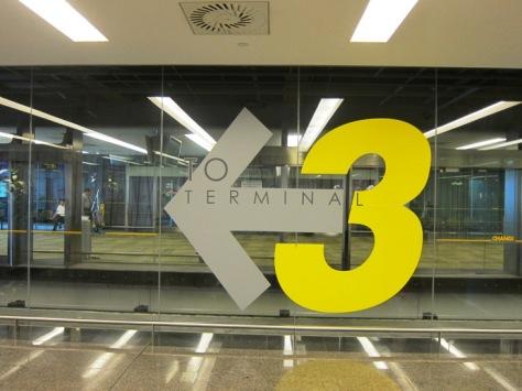 Menuju Terminal 3 di Changi