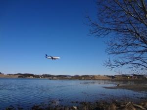 Iseng nonton wawa dekat Stavanger Airport, Sola, Norwegia