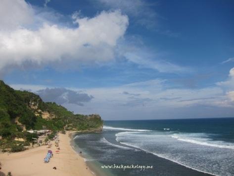 Pantai Pok Tunggal dari atas bukit
