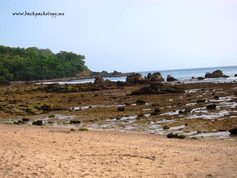 Pantai Wediombo saat surut