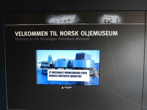 Welcome to Norwegian Oil Museum dalam bahasa asli Norwegia