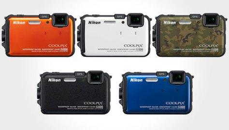 Nikon Coolpix AW100, salah satu kamera tahan air / goncangan / debu dengan banyak pilihan warna