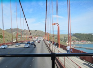Crossing Golden Gate Bridge (San Francisco, 2012)