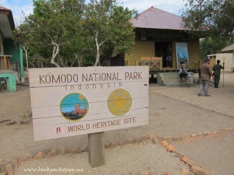 Kantor pengelola Taman Nasional Komodo di Pulau Rinca