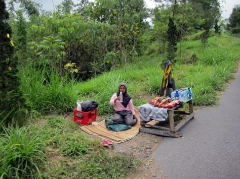 Penduduk lokal yang menggantungkan hidup dari wisata di lereng Merapi