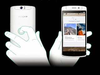 Fitur O-touch di bagian belakang HP OPPO N1