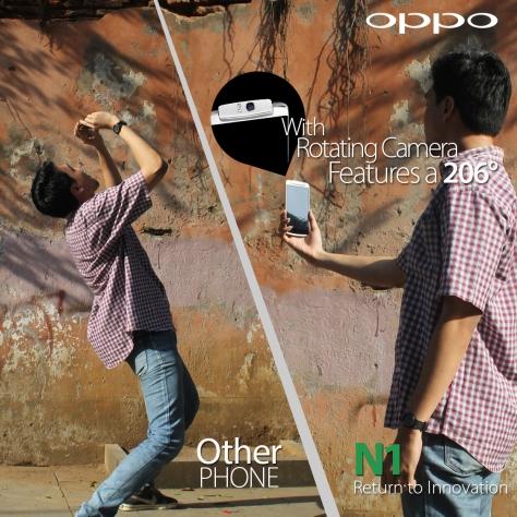 Rotating camera OPPO N1 menjadi idaman fotografer dan travel blogger seperti saya