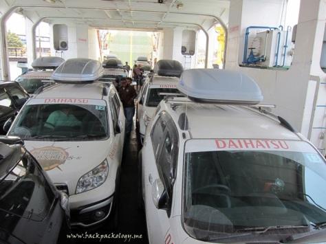 Terios mendominasi kapal feri menuju Pelabuhan Gilimanuk, Bali