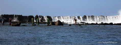 Anda harus sedekat ini dengan tembok karang untuk mendapatkan hasil yang fantastis...