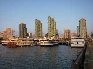 Kota San Diego dilihat dari laut, salah satu kota di Amerika Serikat yang berdekatan dengan perbatasan Meksiko