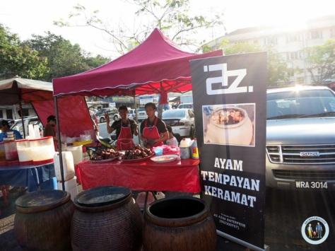 Ayam Tempayan Kramat, salah satu yang paling unik di Pasar Ramadhan Setiawangsa