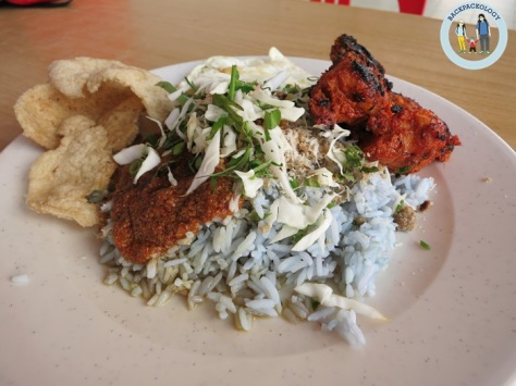 Nasi kerabu, local delicacies of East Coast