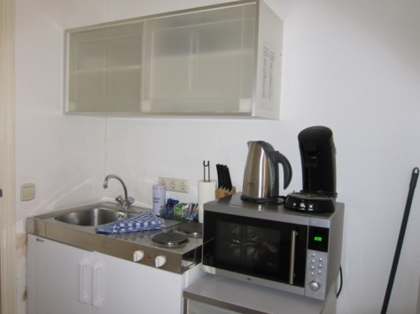 Dapur kami di apartemen Amsterdam