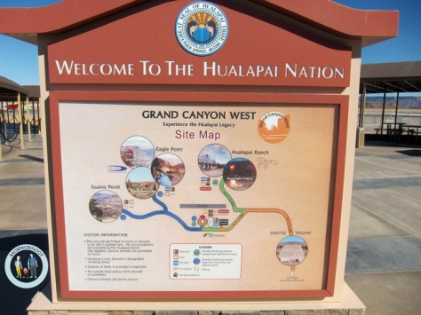 Welcome to Hualapai Nation, sambutan di awal petualangan di wilayah Grand Canyon West