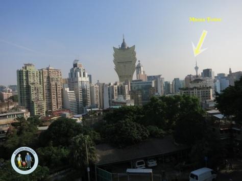 Penampakan Macau Tower dari jauh