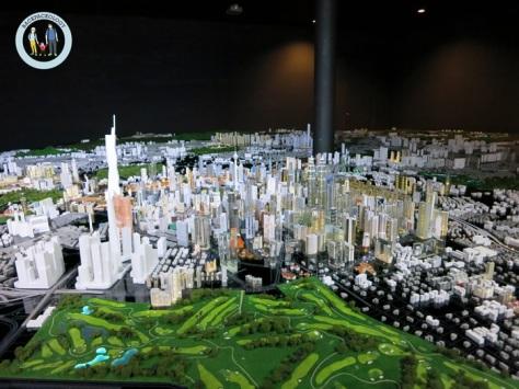 Miniatur kota KL di dalam KL city gallery, Dataran Merdeka