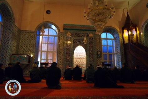 Bagian dalam Kaliceci-Hasanaga Cami, tidak ada kubah megah di dalamnya