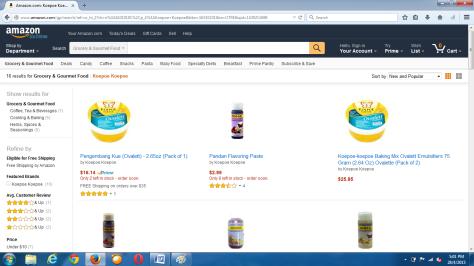Koepoe Koepoe dijual lewat Amazon