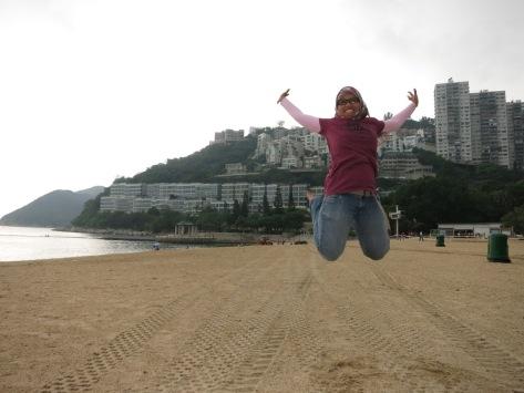 Ternyata waktu pose begini di Repulse Bay Hong Kong udah hamil muda
