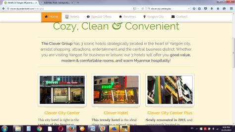 Screencap dari clovercitycenterhotel.com