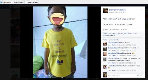 Ramai komen di FB