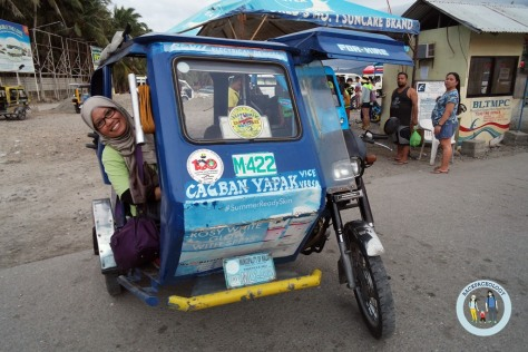 Tricycle alias becak motor ala Filipina, transportasi andalan di Pulau Boracay