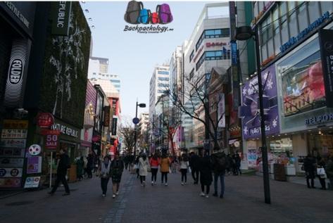 Myeongdong di pagi hari